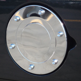 Stainless Steel Chrome w/ Raised Bolts Fuel Door